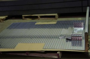 Aluminum checker plate formed