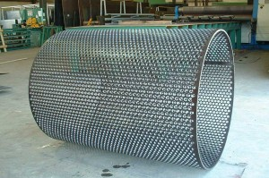 Perforated plate rolled