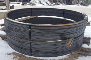Rolled flatbar stiffener rings