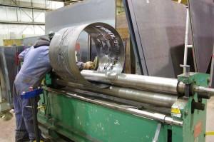 Small plate rolls rolling custom-firepit